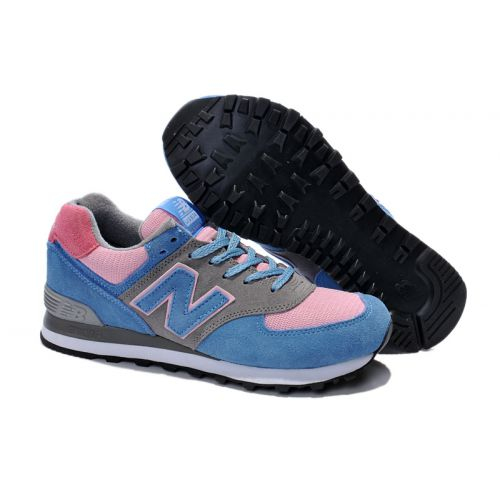 New Balance American made Blue Pink Grey Women Shoes US574W1