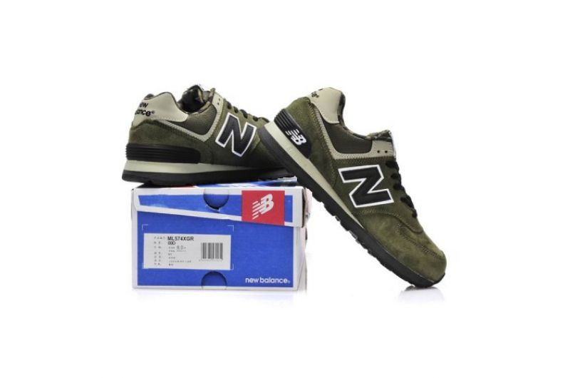 Outlet New Balance ML574XGR Camo Pack Military green black Men(14911331601043)-1